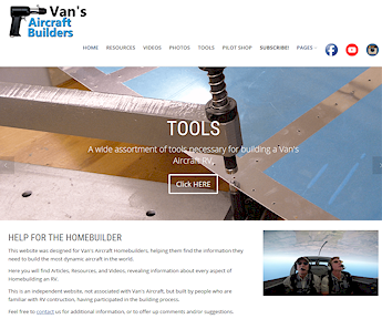 VansAircraftBuilders.com Help for the Van's Aircraft Builder RV-7 RV-8 RV-9 RV-10 RV-12 RV-14